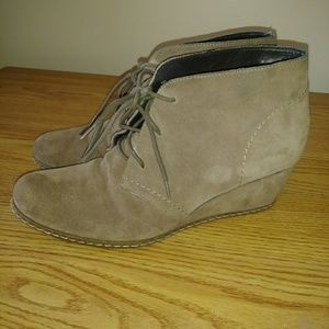 Franco Sarto lace up leather booties